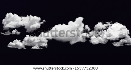 Cloud stock image in black background #1539732380
