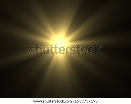 Abstract sun burst with digital lens flare background #1539737195