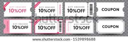 COUPON FASHION TICKET CARD  element template for graphics design. Vector illustration #1539898688