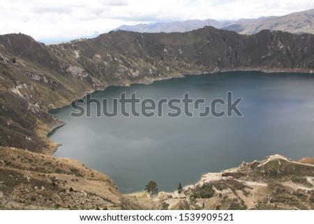 Landscapes of the lagoon of Quilotoa Ecuador #1539909521