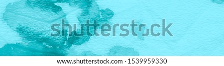 Watercolor Banner. Grunge Texture. Bright Watercolor Banner. Turquoise Mint Effect. Blue Traditional Background. Hand Drawn Watercolor Dirty Art. Mint Background. #1539959330
