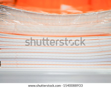 stack of notebooks. Stack of notebooks background, in office for education learning concept.  #1540088933