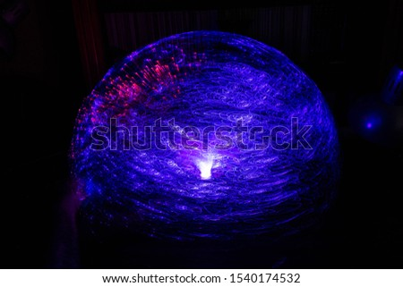 Colored sphere, made with a fiber optic light lamp #1540174532