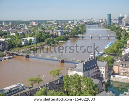 Aerial view of the city of Frankfurt am Main in Germany #154022033