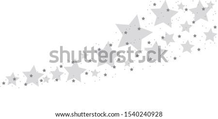 blue stardust isolated on white background  illustration  #1540240928