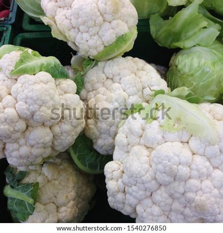 Macro photo cauliflower. Stock photo vegetable cauliflower #1540276850