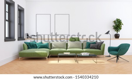 large luxury modern bright interiors Living room illustration 3D rendering computer digitally generated image #1540334210