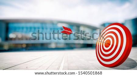 Arrow hit the center of target. Business target achievement concept #1540501868