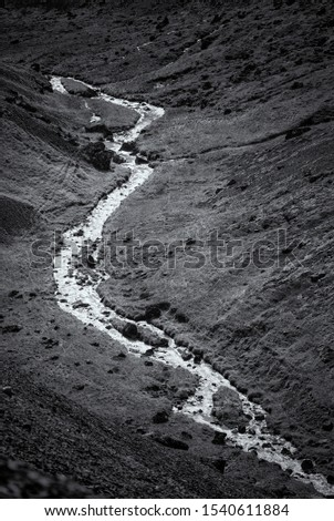 River Crossing a Valley in Iceland #1540611884