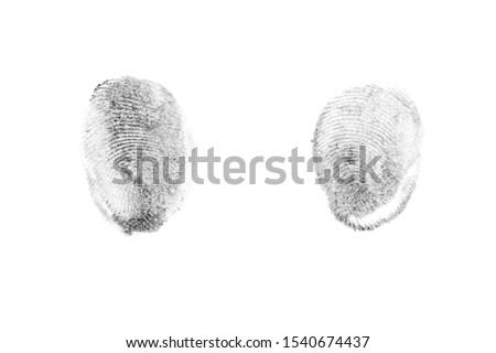 Fingerprints.Background with fingerprints.Black fingerprint on white background. #1540674437