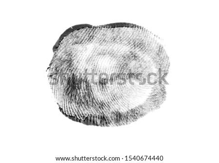 Fingerprints.Background with fingerprints.Black fingerprint on white background. #1540674440