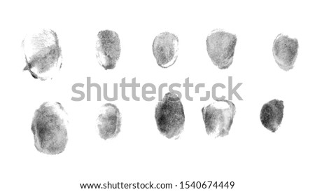 Fingerprints.Background with fingerprints.Black fingerprint on white background. #1540674449
