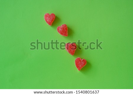 strawberry shaped heart shaped jelly candies #1540801637