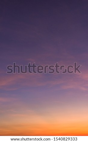 Dusk sky vertical,colorful sunset sky cloud in the evening on twilight #1540829333