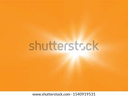 White beautiful light explodes with a transparent explosion. Vector, bright illustration for perfect effect with sparkles. Bright Star. Transparent shine of the gloss gradient, bright flash #1540919531