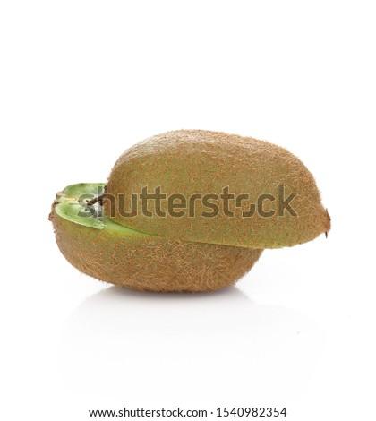 Kiwi fruit isolated on white background #1540982354