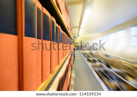 Zoom blurred picture of public library