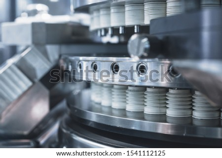 Automatic machine for filling ampoules and vials. Modern pharmaceutical equipment. Conveyor for the production of drugs. #1541112125