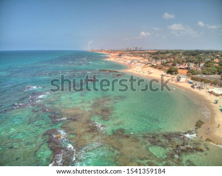 Mikhmoret  beach located in central Israel #1541359184