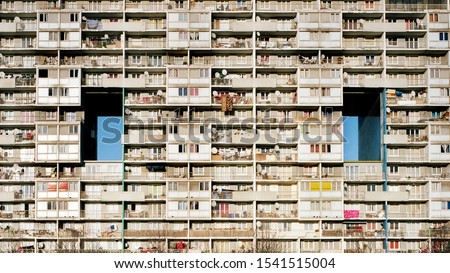 Building in northern suburbs Paris, France Royalty-Free Stock Photo #1541515004