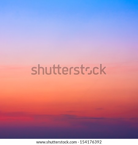 Colorful sky after the sunset. Natural Sky Background. #154176392