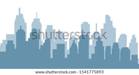 Modern City Skyline Vector illustration Royalty-Free Stock Photo #1541775893
