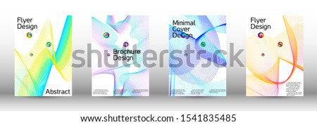 The minimal geometric coverage. Cover design. A set of modern abstract covers. Minimal vector cover design with abstract lines. #1541835485