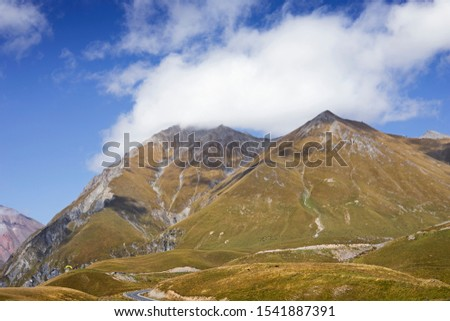 Gudauri, a ski resort located on the south-facing plateau of The Greater Caucasus Mountain Range in Georgia. The resort is situated in the Stepantsminda District, at an elevation of 2200 meters above  #1541887391