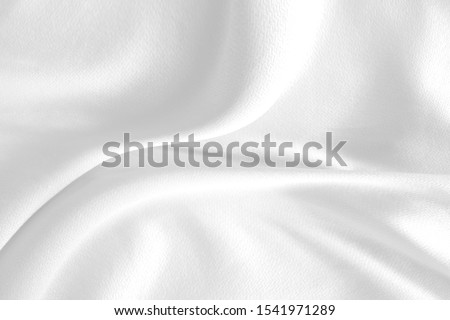 White cloth background abstract with soft waves. #1541971289