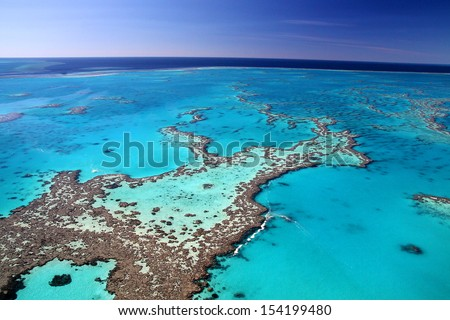 Magnificent colours in the Great Barrier Reef Royalty-Free Stock Photo #154199480