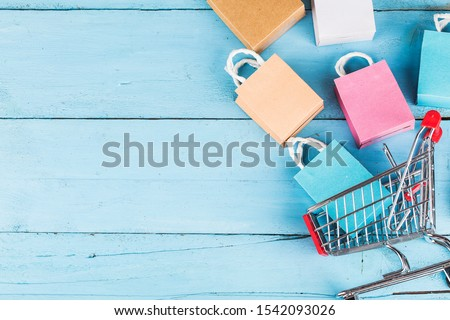shopping online at home concept.online shopping is a form of electronic commerce that allows consumers to directly buy goods from a seller over internet Royalty-Free Stock Photo #1542093026