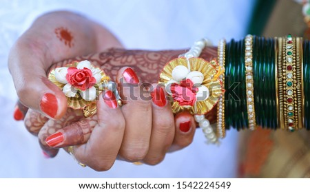 Perfect Marriage Hands Stock Photo indian Bride and Groom Marriage Couple Holding Hands.