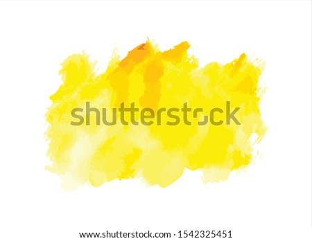 yellow water color paint background vector #1542325451