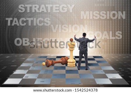 Strategy and tactics concept with businessman #1542524378