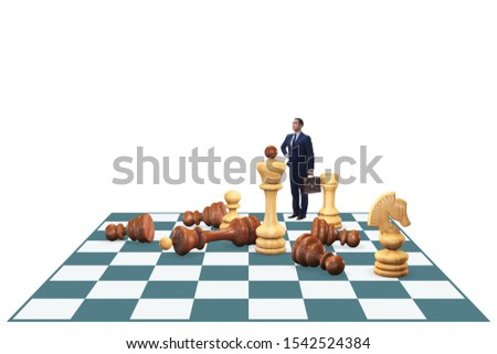 Strategy and tactics concept with businessman #1542524384