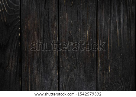 Background ebony, horizontal boards. Wooden old texture.