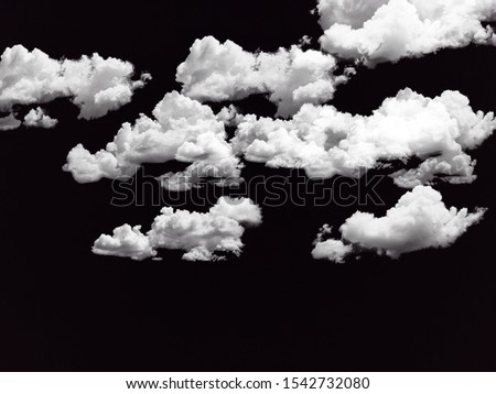 Cloud stock image in black background