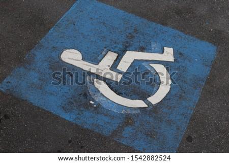 Handicapped parking spot,  sign for background #1542882524