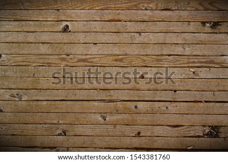 Horizontally placed old boards, Old light brown wood flooring, vintage wood flooring. antique wooden texture background #1543381760