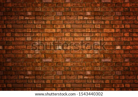 An old grunge red brick wall background and texture. #1543440302