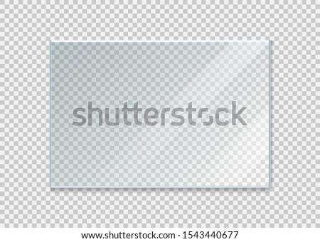glass windowisolated on white background. Vector illustration. Eps 10.  #1543440677