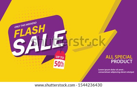 Flash sale discount banner template promotion  #1544236430