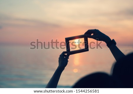 Picture frames placed background blurred, natural tones vintage style. Show the world you love Love Family between two people.Let's Stay Together happy mother's day,