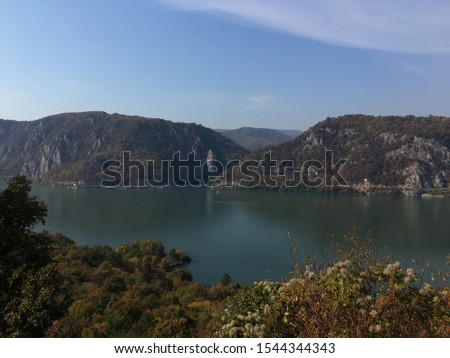 View of the Danube and Iron Gate from Serbia #1544344343