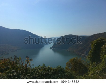 view of the Danube and Iron Gate, from Serbia #1544345552