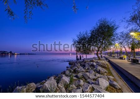 Night at Golbasi Mogan Lake in Ankara Province #1544577404