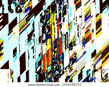 Abstract colored pattern. Digital art design #1544598710