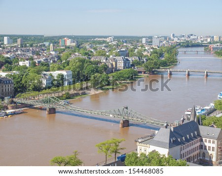 Aerial view of the city of Frankfurt am Main in Germany #154468085