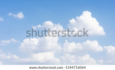 Cloud and blue sky in day time for background purpose.