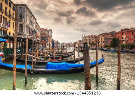 Beautiful scenery of the grand Canal in Venice, Italy #1544851238